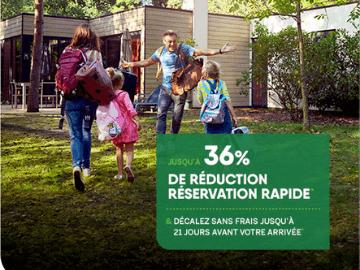 Center Parcs belgique promo : bénéficiez de jusqu'à 36% de remise sur votre réservation