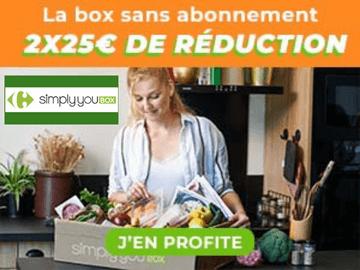 code promo Simply You Box exclusif : 25€ de réduction sur vos 2 premiers box SANS ENGAGEMENT !