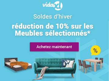 code promo VidaXL : 10% de rabais sur une sélection de meubles