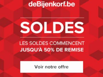 De Bijenkorf belgique vous offre jusqu'à 50% de remise sur vos achats