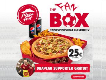 Pizza Hut Euro 2020 : 2 bouteilles de Pepsi et un drapeau des Supporters Belges gratuits